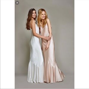 satin dress - BHLDN Bella